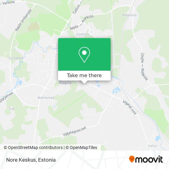 Nore Keskus map