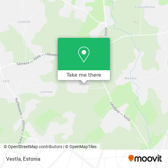 Vestla map