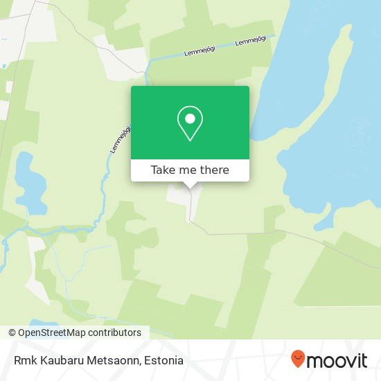 Rmk Kaubaru  Metsaonn map