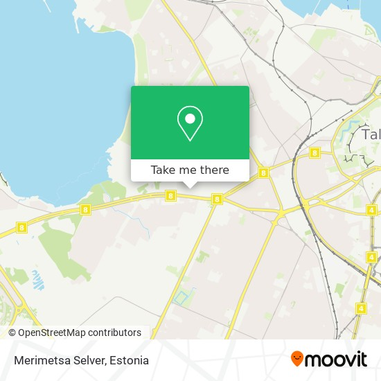 Merimetsa Selver map