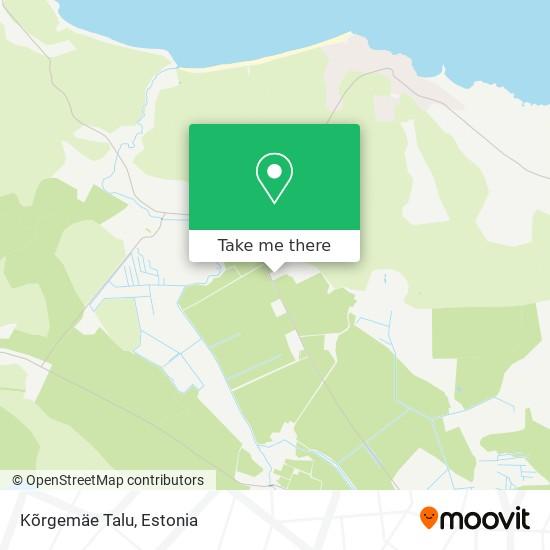 Kõrgemäe Talu map