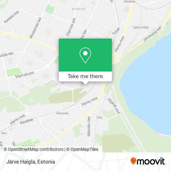 Järve Haigla map
