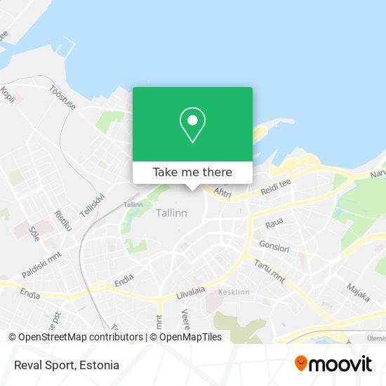 Reval Sport map
