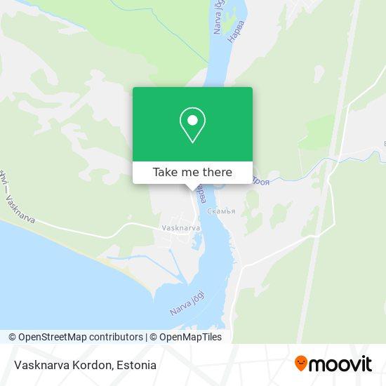 Vasknarva Kordon map