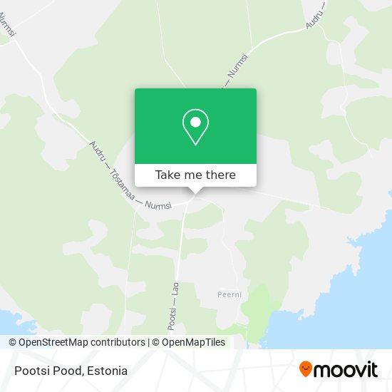 Pootsi Pood map