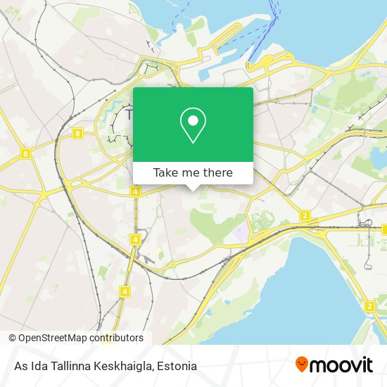As Ida Tallinna Keskhaigla map