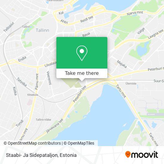 Staabi- Ja Sidepataljon map