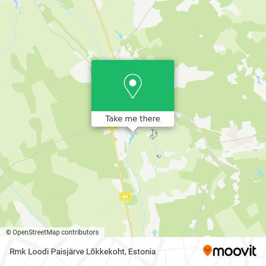 Rmk Loodi Paisjärve Lõkkekoht map