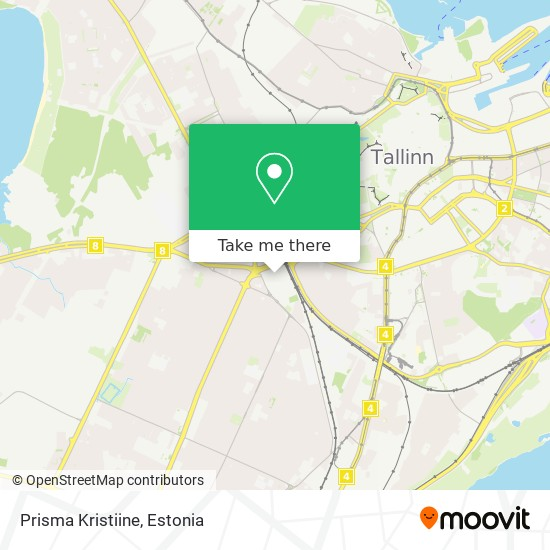 Prisma Kristiine map