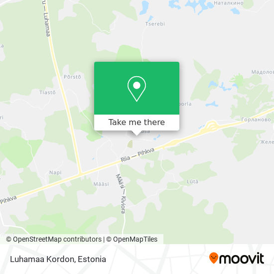 Luhamaa Kordon map