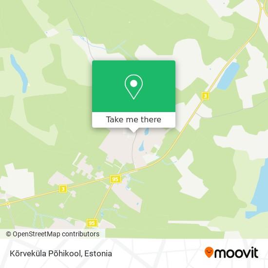 Kõrveküla Põhikool map