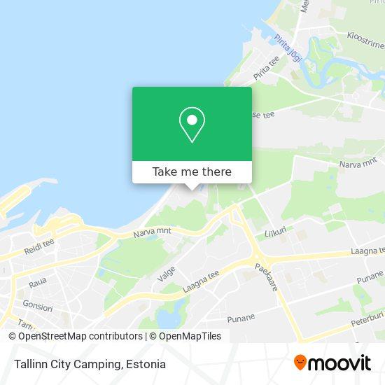 Tallinn City Camping map