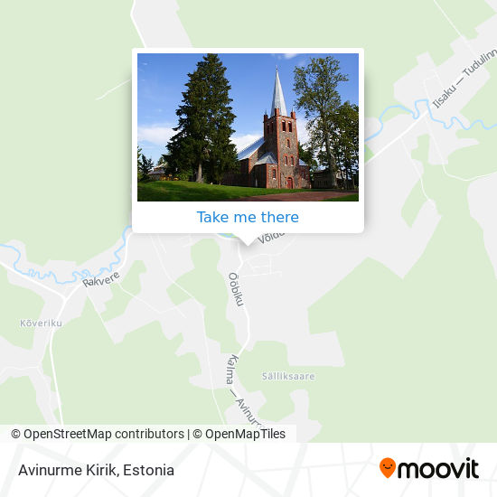 Avinurme Kirik map
