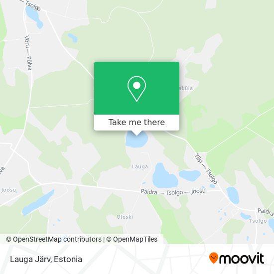Lauga Järv map