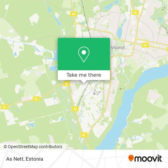 As Nett map