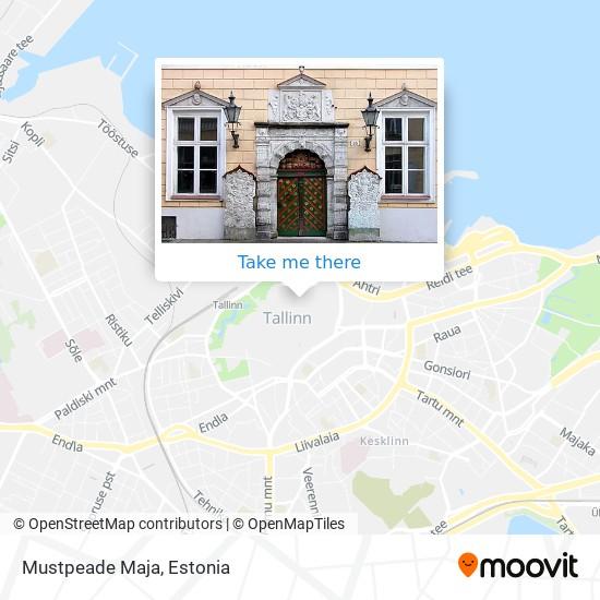 Mustpeade Maja map