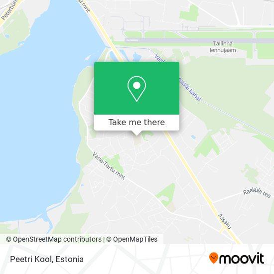 Peetri Kool map