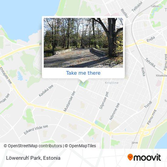 Löwenruh Park map