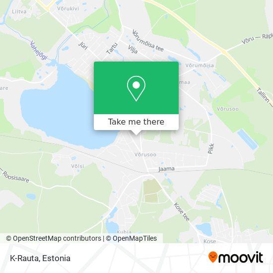 K-Rauta map