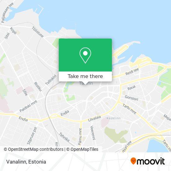 Vanalinn map