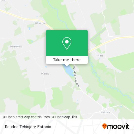 Raudna Tehisjärv map