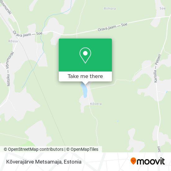 Kõverajärve Metsamaja map