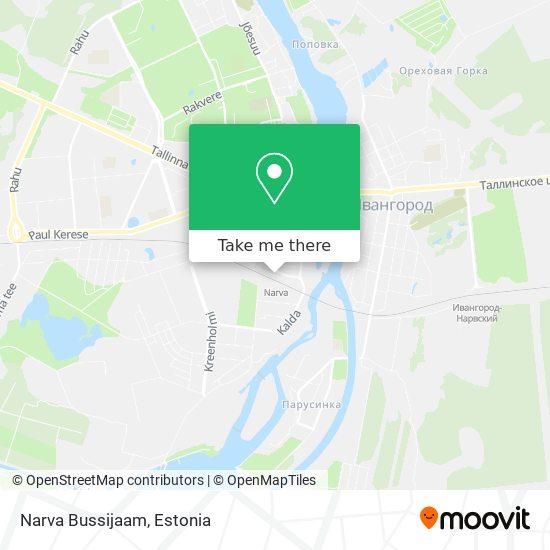 Narva Bussijaam map