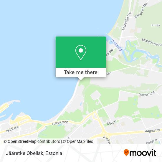 Jääretke Obelisk map