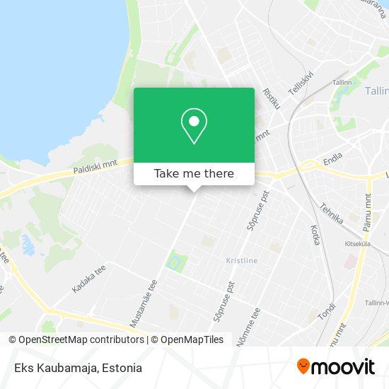 Eks Kaubamaja map