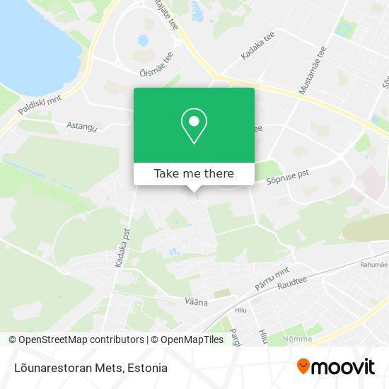 Lõunarestoran Mets map