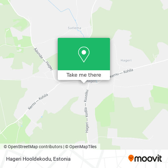 Hageri Hooldekodu map