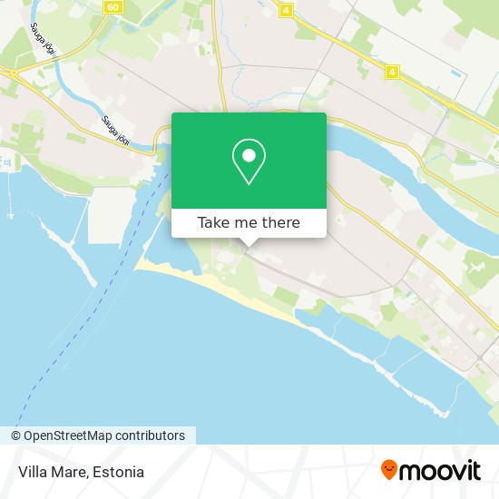 Villa Mare map