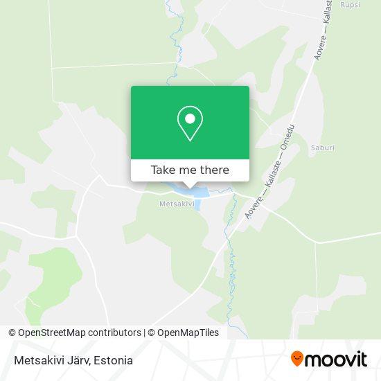 Metsakivi Järv map