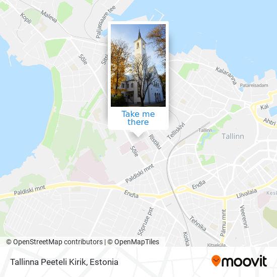 Tallinna Peeteli Kirik map