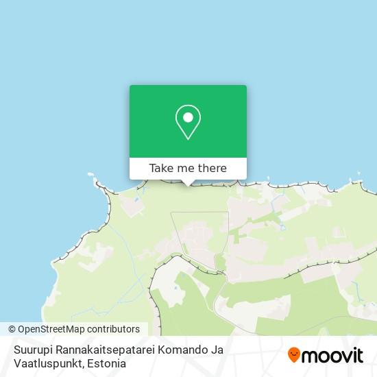 Suurupi Rannakaitsepatarei Komando Ja Vaatluspunkt map