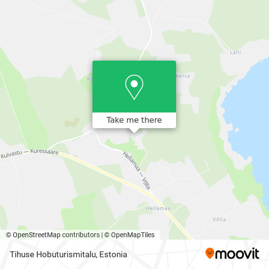 Tihuse Hobuturismitalu map