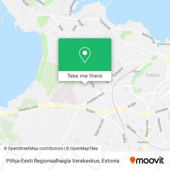 Põhja-Eesti Regionaalhaigla Verekeskus map