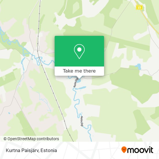 Kurtna Paisjärv map