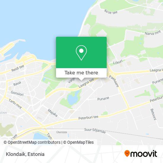 Klondaik map