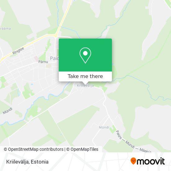 Kriilevälja map
