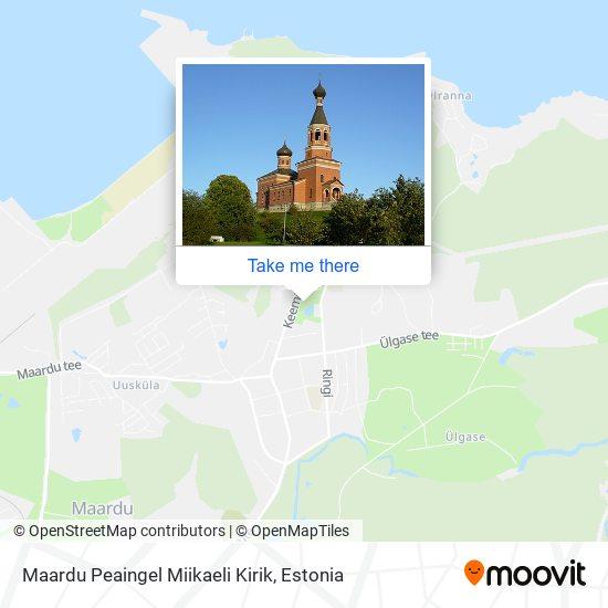 Maardu Peaingel Miikaeli Kirik map