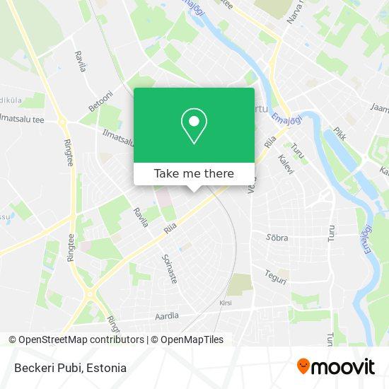 Beckeri Pubi map