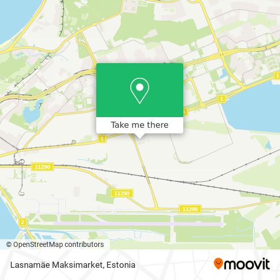 Lasnamäe Maksimarket map