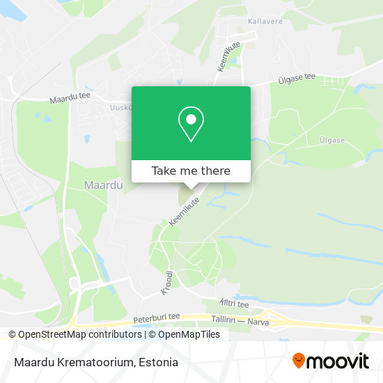 Maardu Krematoorium map