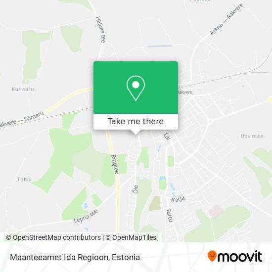 Maanteeamet Ida Regioon map