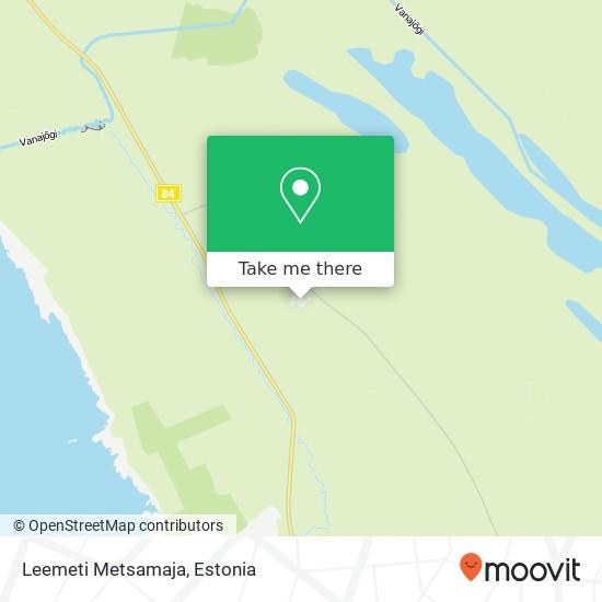 Leemeti Metsamaja map
