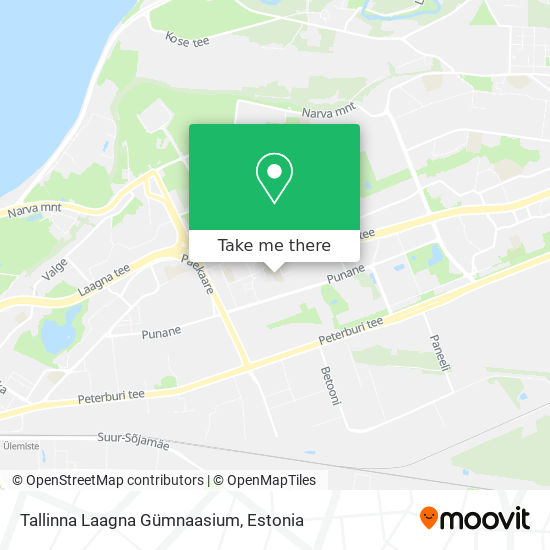 Tallinna Laagna Gümnaasium map