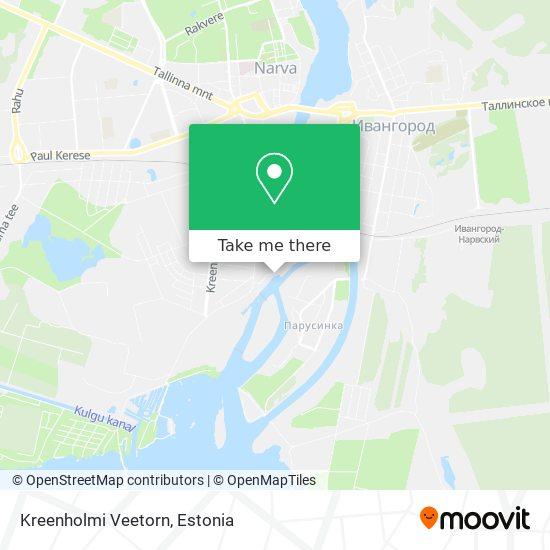 Kreenholmi Veetorn map