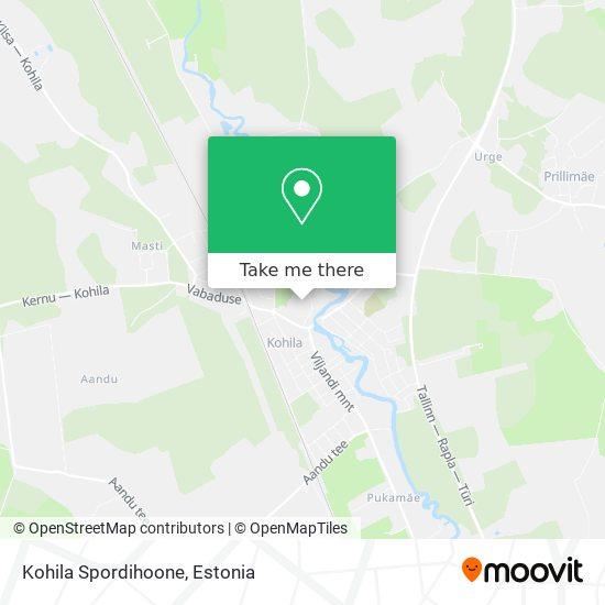 Карта Kohila Spordihoone