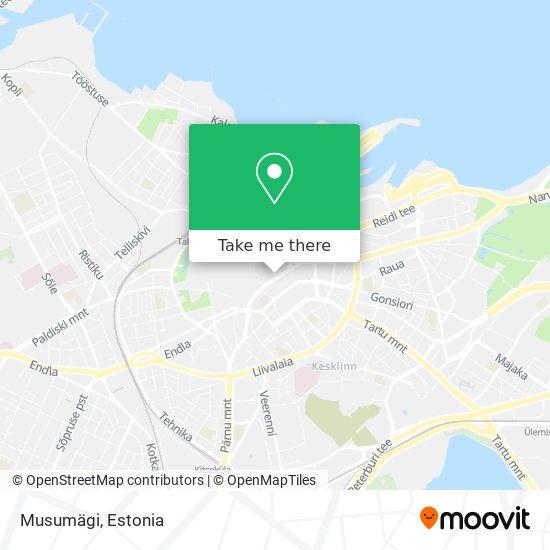 Musumägi map